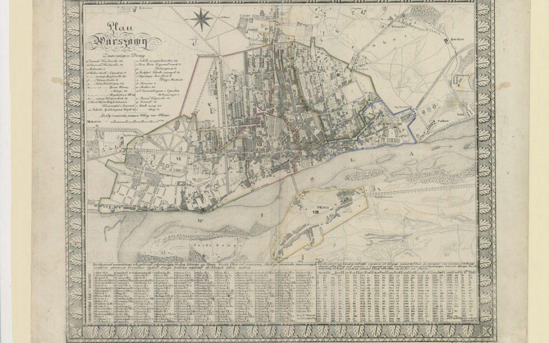 Plan miasta Warszawy 1:11.5k 1808 r.