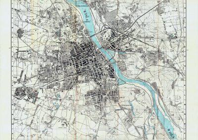 Brytyjski (GSGS) Plan Warszawy 1:25k 1944 r.