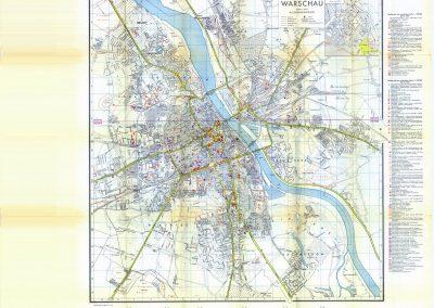 Niemiecki plan Warszawy 1:20k 1939 r.