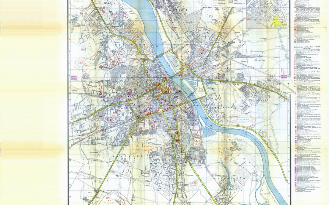 Niemiecka mapa Warszawy 1939 r. (plan w skali 1:20k)