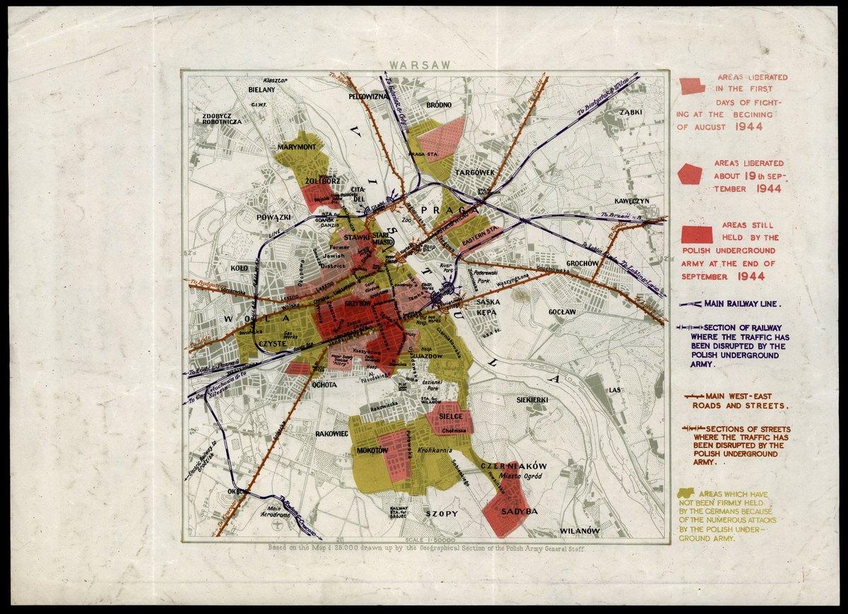 Powstanie Warszawskie Sytuacja Na Koniec Wrzesnia 1944 R