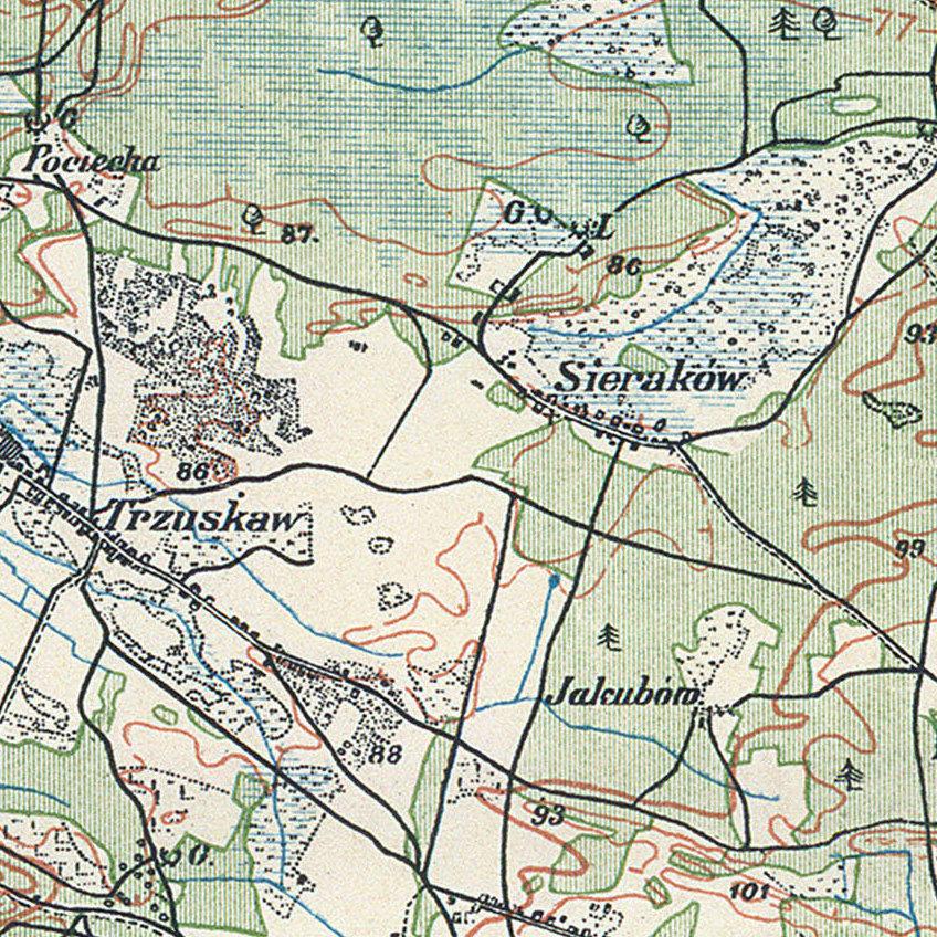 Mapa Topograficzna Okolic Warszawy Wig 1924 R Stare Mapy