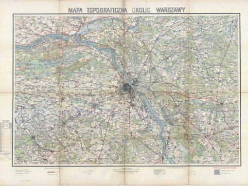 Mapa topograficzna okolic Warszawy WIG 1924 r.